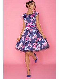 Dámské šaty Dara květinové tmavě modré