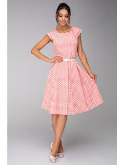 Dámské šaty Klaudie lososové - prodloužená délka