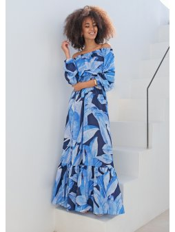 sukienka maxi w stylu hiszpanskim blue leaves (2)
