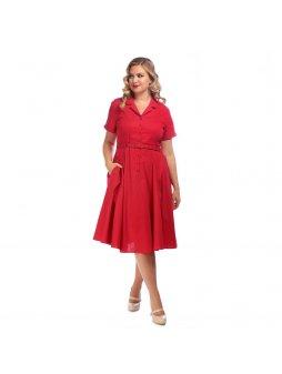 Dámské retro šaty Caterina červené