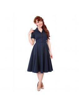 Dámské retro šaty Caterina tmavě modré