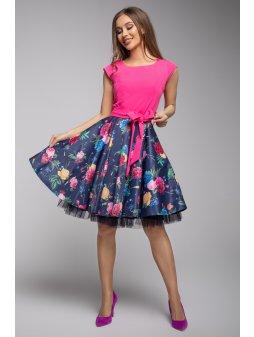 Dámské šaty Roztančená pink růže
