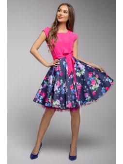 Dámské šaty Roztančená pink louka