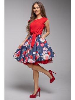 Dámské šaty Roztančená červené