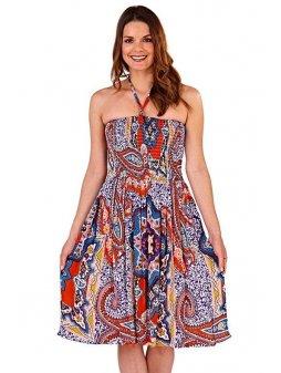Dámské letní šaty/sukně 3v1 Etno červené