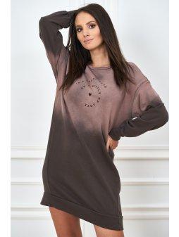 cieniowana sukienka z napisami (3)