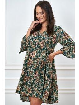 sukienka w printy o luznym kroju (10)