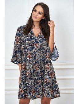 sukienka w printy o luznym kroju (6)