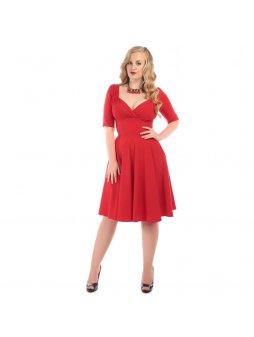 Dámské retro šaty Trixie Doll červené