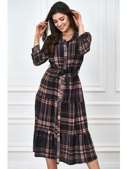 koszulowa sukienka w krate (2)