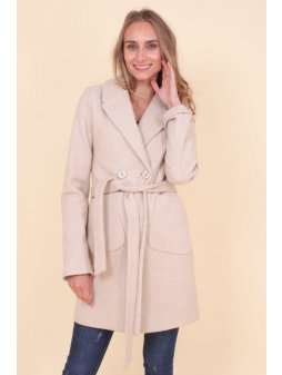 Dámský kabát Vanilka, krémový