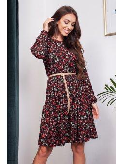 Šaty Barevný podzim, červené