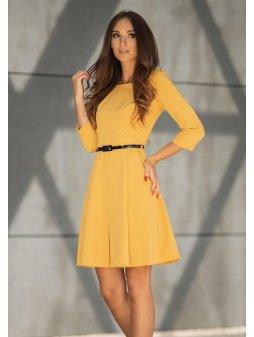 Dámské šaty Podzimní melodie, žluté