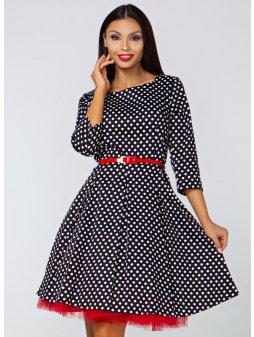 Dámské šaty Podzimní melodie, velký puntík