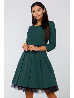 Dámské šaty Podzimní melodie, zelené