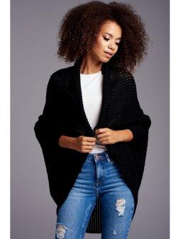 sweter narzutka oversize ilm a01 czarny