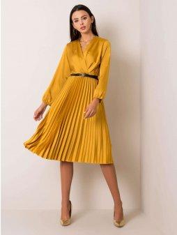 pol pl Musztardowa sukienka Royal 354830 1
