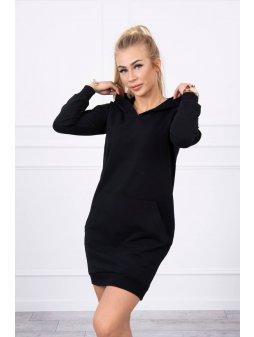 eng pl Hooded dress black 17896 3