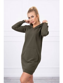 eng pl Hooded dress khaki 17897 3