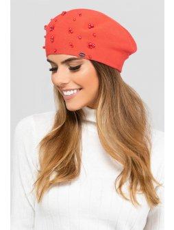 KAMEA WYOMING beret damski jasnoczerwony