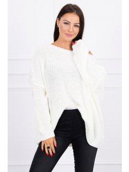 eng pl Sweater Oversize ecru 15715 1