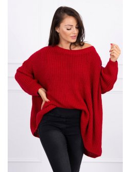 eng pl Sweater Oversize red 15716 1