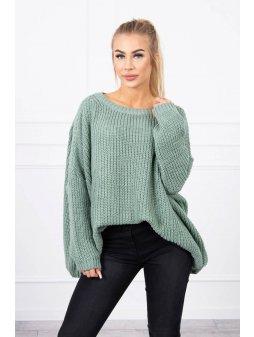 eng pl Sweater Oversize dark mint 19179 1