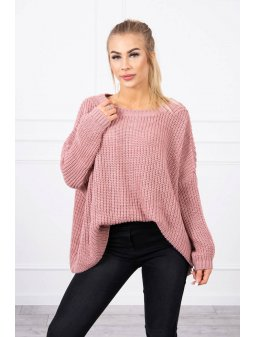 eng pl Sweater Oversize dark pink 19181 1