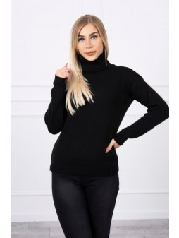 eng pl Sweater with a turtleneck black 18771 4