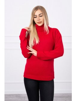 eng pl Sweater with a turtleneck red 18777 4