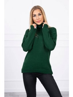 eng pl Sweater with a turtleneck green 19339 1