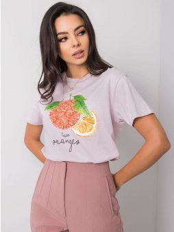 pol pl Liliowy t shirt damski z aplikacja Fenna 361002 2