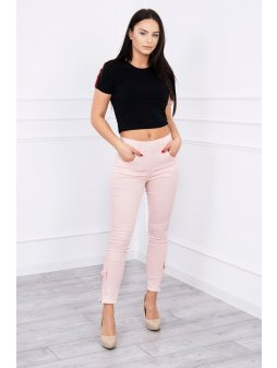 eng pl Colorful jeans with bow powdered pink 12393 1