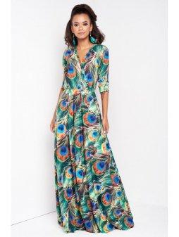sukienka maxi pawie piora (5)