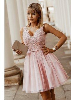 Dámské šaty Maceška světle růžové