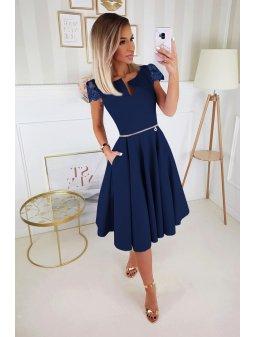 Dámské šaty Marie Luissa modré