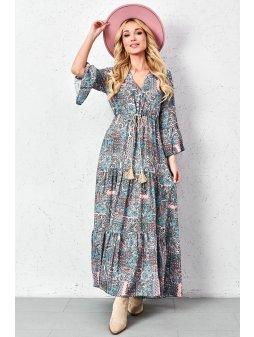 dluga wzorzysta sukienka z ozdobnym wiazaniem (8)