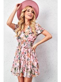 kwiecista sukienka z guma w pasie (8)
