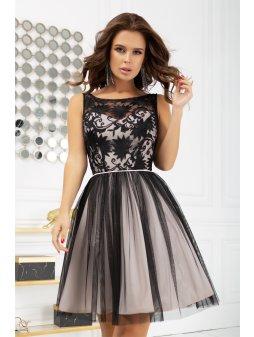 Dámské šaty Kráska černo krémové