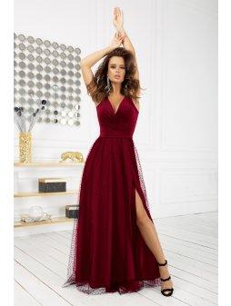 Dlouhé šaty Půlnoční krása vínové