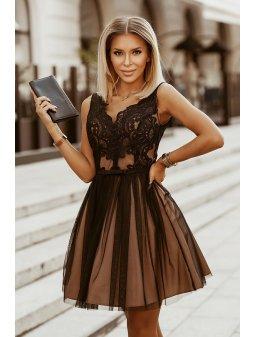 Dámské šaty Maceška černé s tělovou