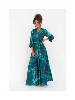maxi dress teal waves (3)