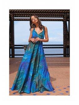 maxi dress blue waves (3)