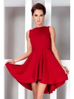 Dámské šaty HOT hladké červené (Velikost L)