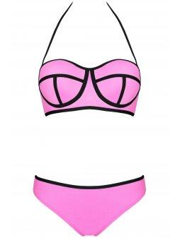 Dámské plavky Ingrid růžové (Velikost L - košíček D)
