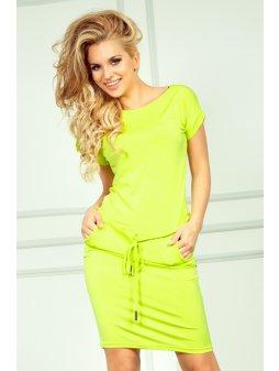 Dámské šaty Neonky Citron (Velikost L)
