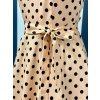 Dámské retro šaty Hepburn krémové s černým puntíkem