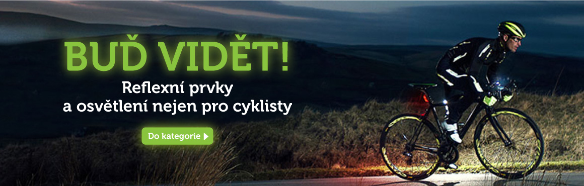 Reflexní prvky a osvětlení pro cyklisty