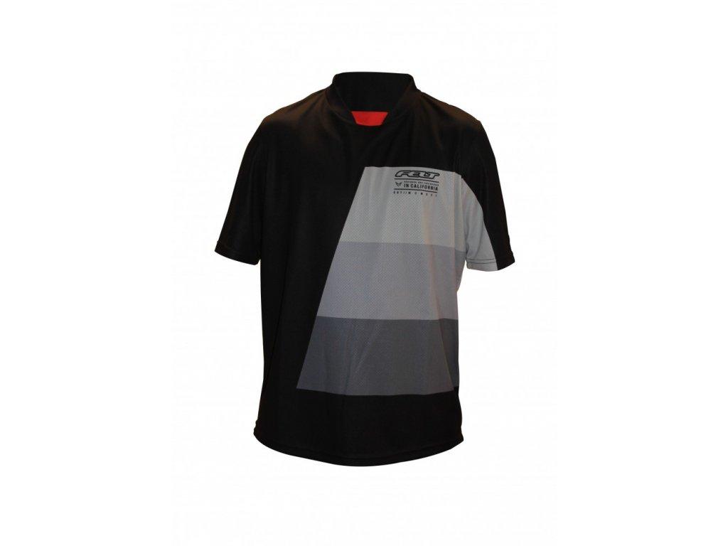 FELT tričko XC krátký rukáv 2017 černo-šedé  + Nevyhovující oblečení lze vracet až do konce ledna 2021