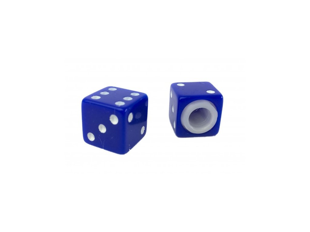 Čepička ventilku CC. / Kostky modré
